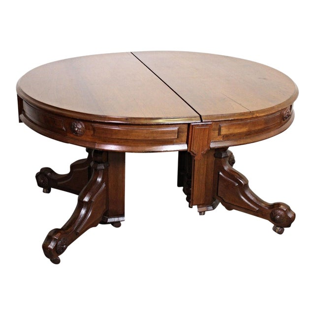 Renaissance Revival American Dining Table - Image 1 of 11