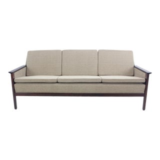 Danish Modern Sofa with Rosewood Frame For Sale