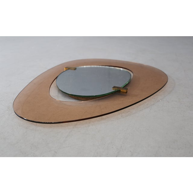 Metal Max In Mid Century Mirror for Fontana Arte Italy, 1950s For Sale - Image 7 of 8