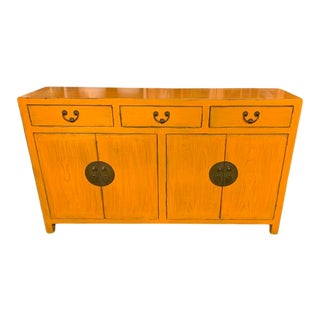 Ming Orange Buffet Table For Sale