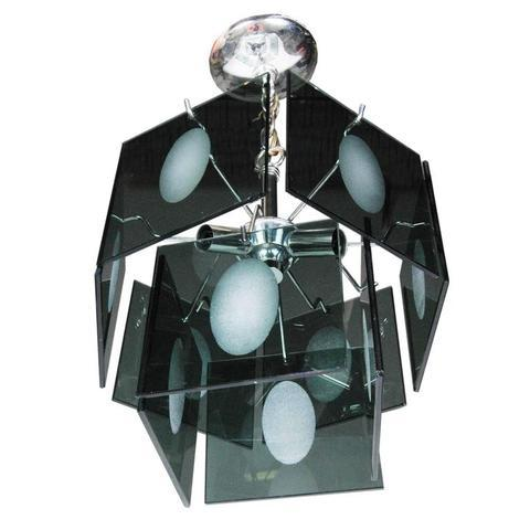 1960s Italian Smoked Glass Two Tier Chandelier - Image 2 of 4