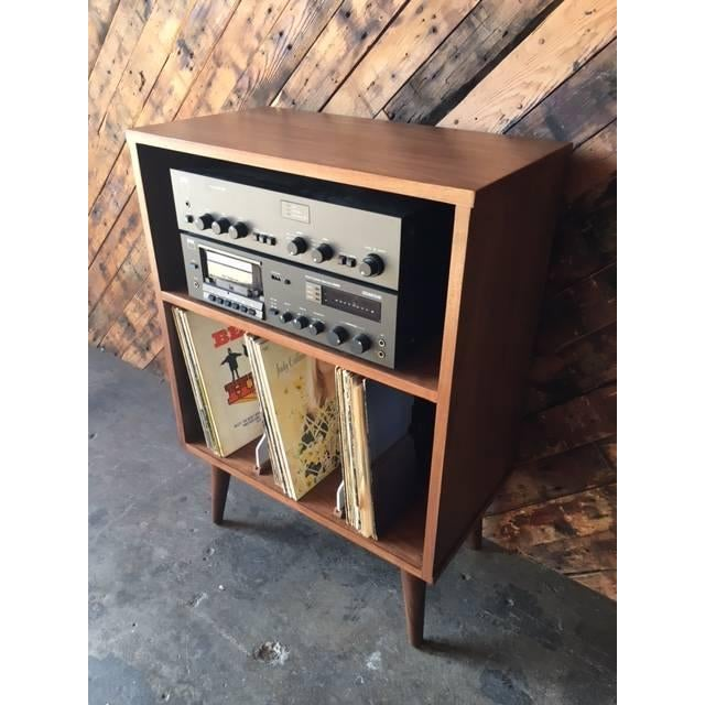 Mid Century Style Mini Credenza Record Stand - Image 5 of 6
