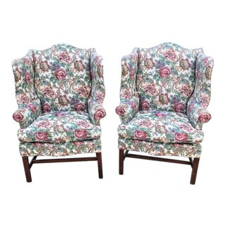 Hickory Chair Company James River Townsend Wingback Chairs - a Pair For Sale
