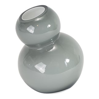 Modernist Bulbous Cased Glass Vase For Sale