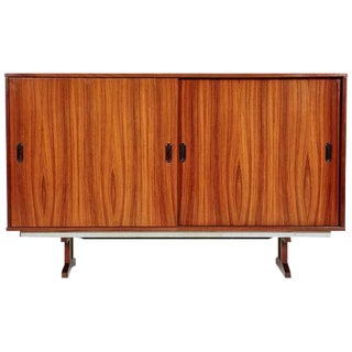 1960s Danish Brazilian Rosewood Sliding Door Office Cabinet