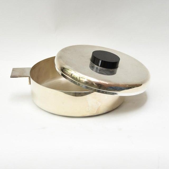 Italian Lino Sabattini Silver Plated Bowl and Lid For Sale - Image 3 of 5