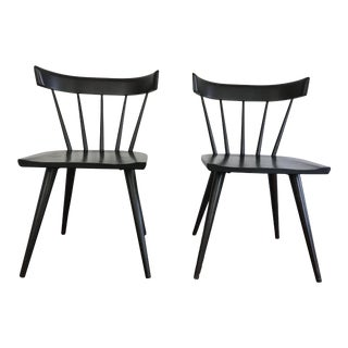 1950s Mid-Century Modern Paul McCobb Ebonized Planner Dining Chairs - a Pair For Sale