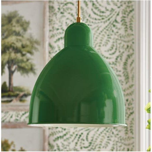 A rich, vibrant green metal shade and vintage design makes the Clive pendant a modern choice. A handsome, bold pop of...