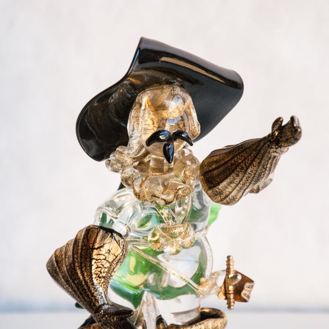 Circa 1950 Murano Italy Cavalier Art Glass Figure in the Style of Salviati For Sale In Richmond - Image 6 of 8