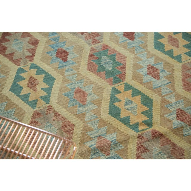 "Geometric Medallion Kilim Carpet - 8'2"" X 11'3"" For Sale - Image 5 of 8"