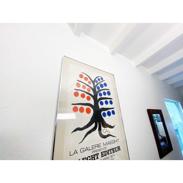 White Alexander Calder La Galerie Maeght Exhibition Poster - 1971 For Sale - Image 8 of 10