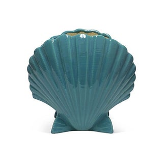 Turquoise Shell Jardiniere