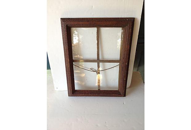 Antique Tramp Art Window Pane Frame Chairish
