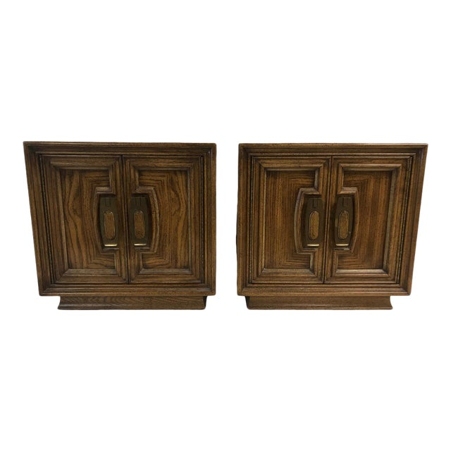 1960s Mid Century Wooden Nightstands - a Pair For Sale