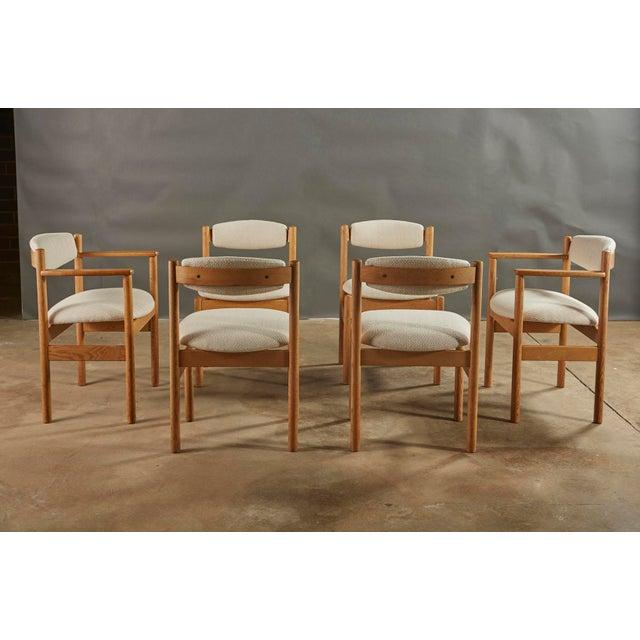 FDB Møbler Set of 6 Danish Oak Dining Chairs for Fdb Mobler by Jørgen Bækmark For Sale - Image 4 of 8