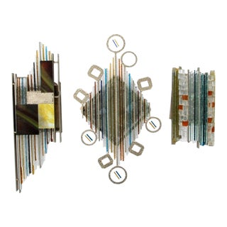 1970s Brutalist Sconces by Albano Poli for Poliarte - Set of 3 For Sale