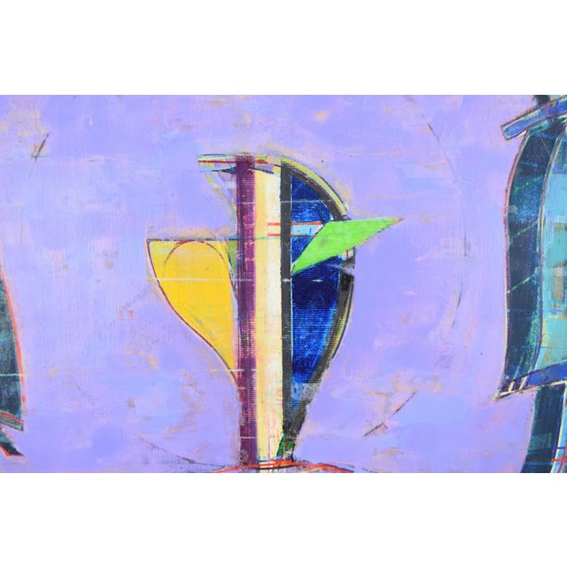 "Abstract Oil Painting ""Vessel of Light #33"" Martin Facey California Artist, 1988 For Sale - Image 4 of 10"