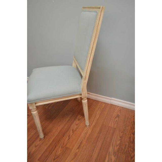Louis XVI Style Square Back Dining Chairs for Custom Orders For Sale In Buffalo - Image 6 of 8