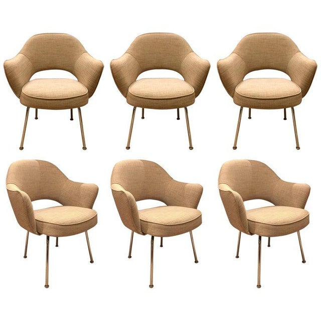 Eero Saarinen for Knoll Dining Armchairs - Set of 6 For Sale In San Francisco - Image 6 of 6