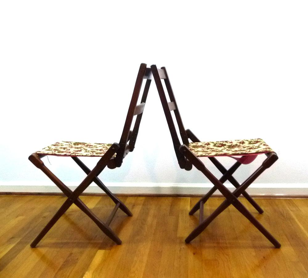 Antique BJ Harrison Folding Deck Chairs   A Pair   Image 5 Of 6