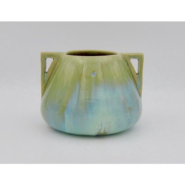 Arts & Crafts Vintage Fulper Pottery Arts & Crafts Double Handled Vase With Flambé Glaze For Sale - Image 3 of 11