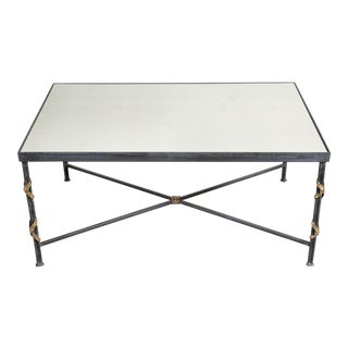 Reed and Ribbon Coffee Table For Sale