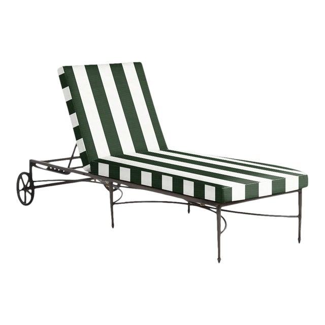 Summer Classics Roma Chaise in Cabana Stripe Mallard For Sale