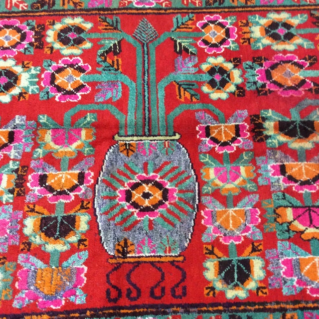 Vintage Chinese Khotan Rug - 4'9x10' For Sale - Image 9 of 13