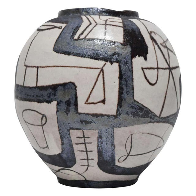Ovoid Vessel With Geometric Design in Style of Guido Gambone, 2011 For Sale - Image 9 of 9