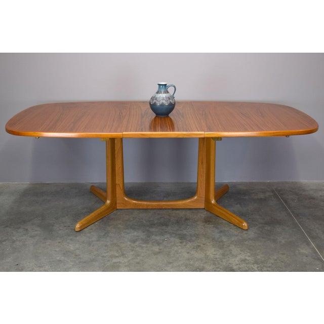 Teak N.O. Moller / Gudme Danish Teak Dining Table For Sale - Image 7 of 11