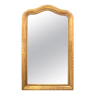 19th Century French Louis Phillipe Gold Gilt Mirror For Sale
