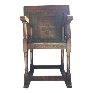 Oak Folding Table Chair For Sale