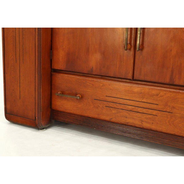 Art Deco Art Deco Waterfall Lift Top Compartments Bar Storage Sideboard Cabinet Bookcase For Sale - Image 3 of 11