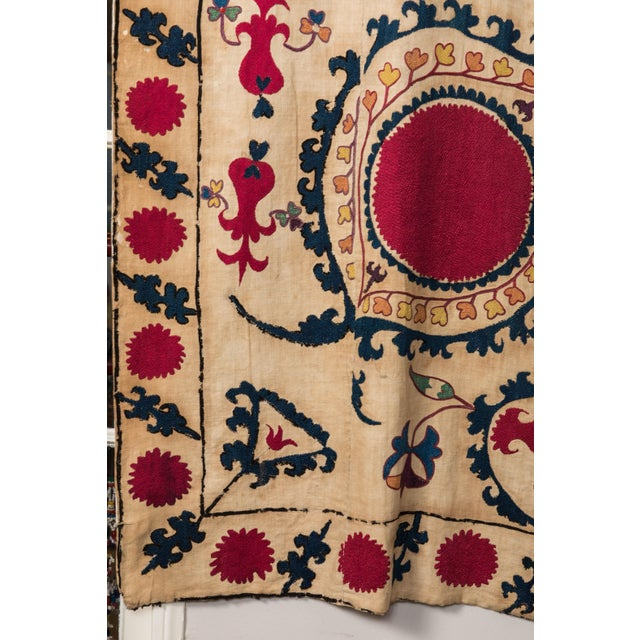 Late 19th Century Antique Hand Embroidered Suzani Textile For Sale - Image 5 of 6