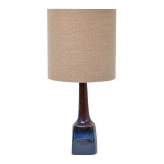 Mid Century Model 941 Blue Ceramic Table Lamp by Einar Johansen for Søholm, 1970s For Sale