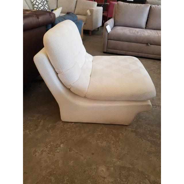 Modern Cream Lounge Slipper Chair For Sale - Image 3 of 10