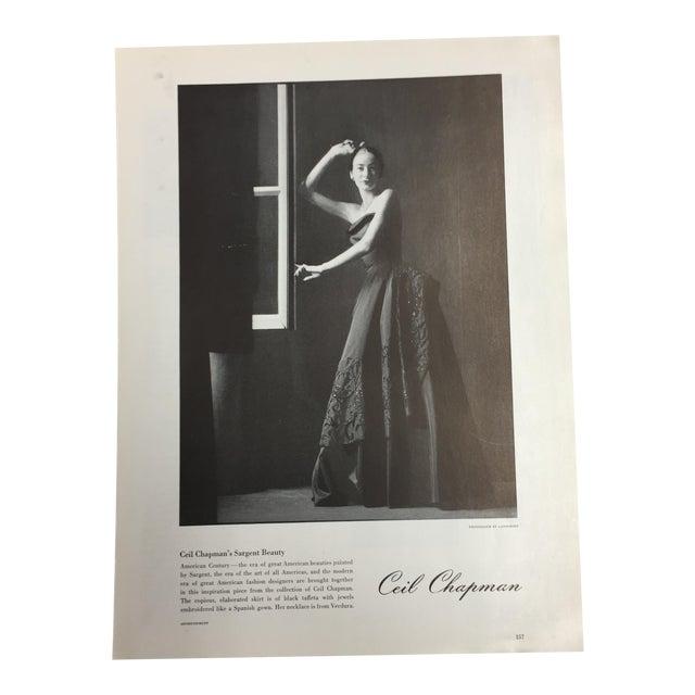 1948 Ceil Chapman Design Ad For Sale