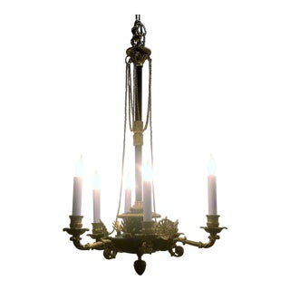 Antique Early 19th Century Empire Bronze Fixture With Eagle Heads, Circa 1820-1830.