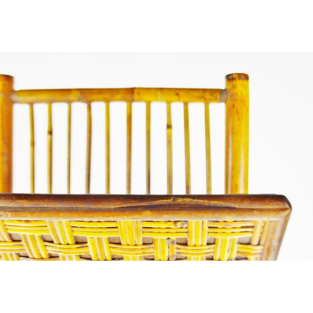 Mid Century Bamboo and Rattan Two Tier Folding Magazine Rack For Sale - Image 11 of 13