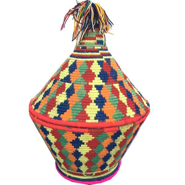 Large Moroccan Woven Basket - Image 1 of 3