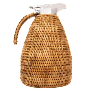 Boho Chic Artifacts Rattan 1.5 L Thermos For Sale