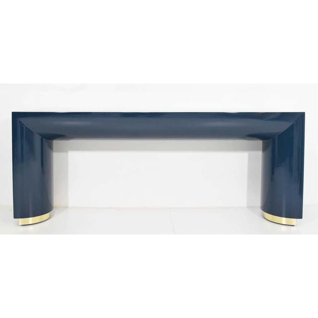Jay Spectre or Karl Springer Style Console For Sale - Image 9 of 9