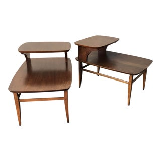 Mid Century Modern Lane Accent Step Tables - a Pair For Sale