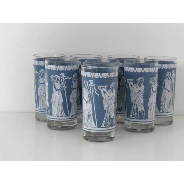 Highball Glasses w/ Grecian Motifs - Set of 8 - Image 3 of 5