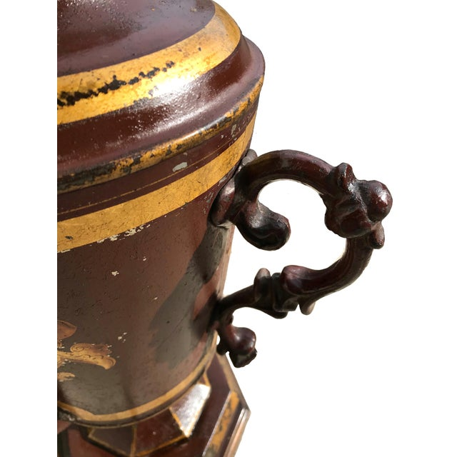 Metal Early 19th Century Unique Early 19th C. English Tole Lamp For Sale - Image 7 of 12