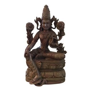 Vintage Antique Carved Soapstone Vishnu Sculpture For Sale