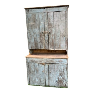 Late 19th Century Antique Farmhouse Kitchen Cupboard For Sale