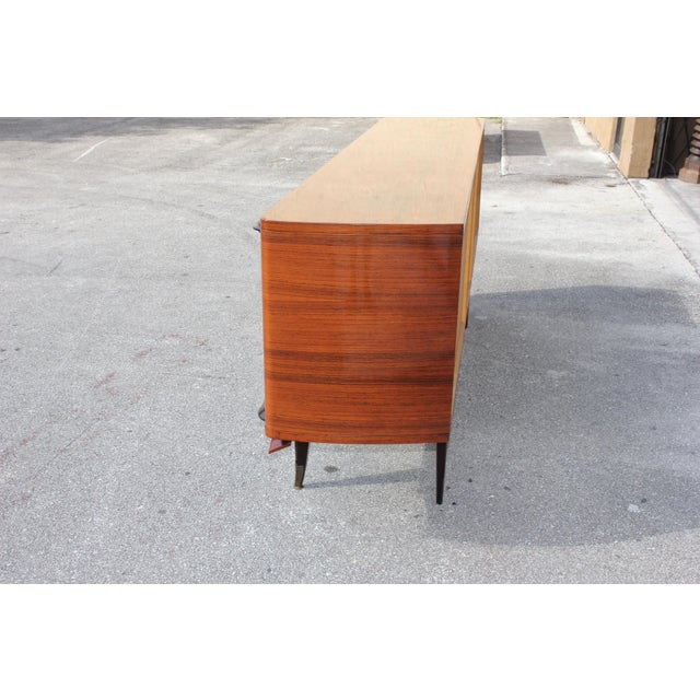 Gold French Art Deco Macassar Ebony Sideboard Credenza For Sale - Image 8 of 13