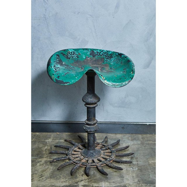 Late 20th Century Folk Art Table and Stool Set For Sale - Image 5 of 10