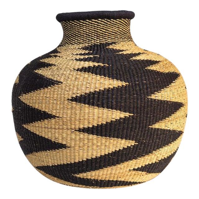 Handwoven Ghanaian Basket For Sale
